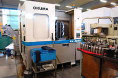 Okuma pallet type horizontal machining centre